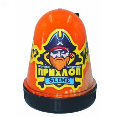 Слайм Прихлоп Флуоресцентный ОРАНЖЕВЫЙ с шариками