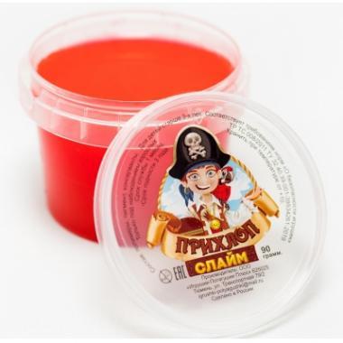 Слайм Прихлоп пират КРАСНЫЙ, 90 гр