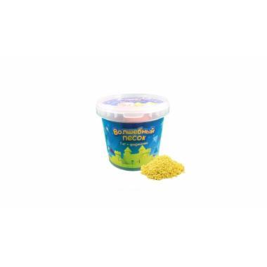Волшебный песок Желтый 1 кг с формочкой