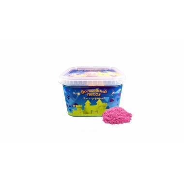 Волшебный песок Розовый 3 кг с формочкой