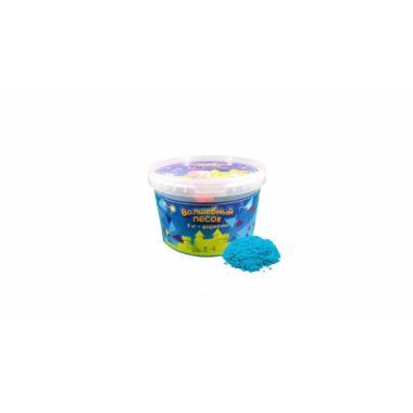 Волшебный песок Голубой 2 кг с формочкой