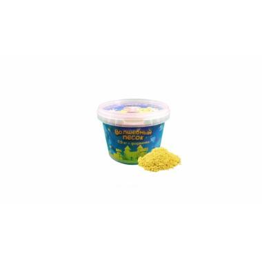 Волшебный песок Желтый 0,5 кг с формочкой