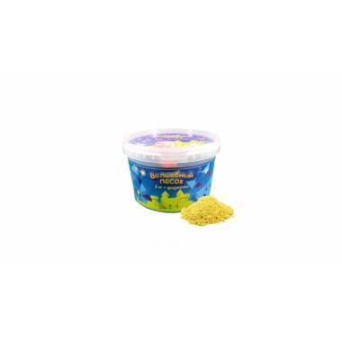 Волшебный песок Желтый 2 кг с формочкой
