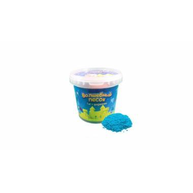 Волшебный песок Голубой 1 кг с формочкой