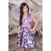 Нарядное платье для девочки ТИФАНИ (фиолетовое), 8-13 лет