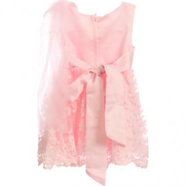 """Нарядное платье для девочки """"Дениз"""" (розовое), 0,5-3 года"""