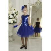 Нарядная юбка ФЛЕР (василек), 6-12 лет