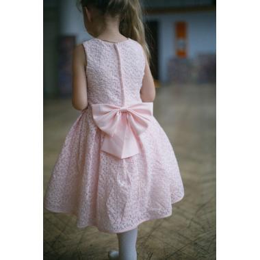 Нарядное платье для девочки IQ-FORM (нежно-розовый), 3-8 лет
