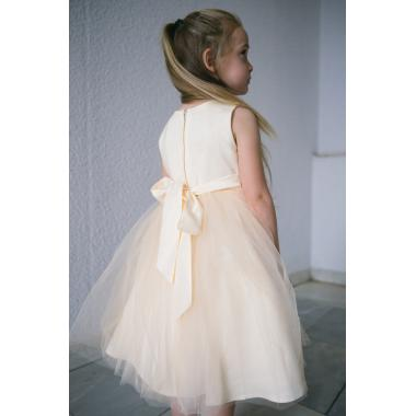 Нарядное платье для девочки IQ-FORM (персик), 3-8 лет