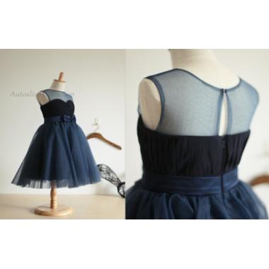Нарядное платье для девочки IQ-FORM (синий), 3-8 лет