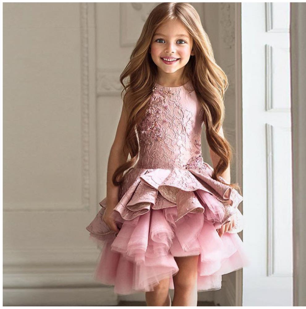 04884002b71 Купить Нарядное платье для девочки IQ-FORM (малиновый)