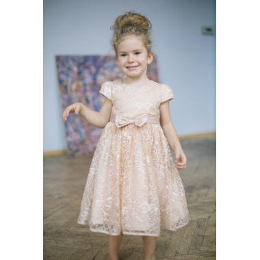 Нарядное платье для девочки IQ-FORM (золотой), 3-8 лет