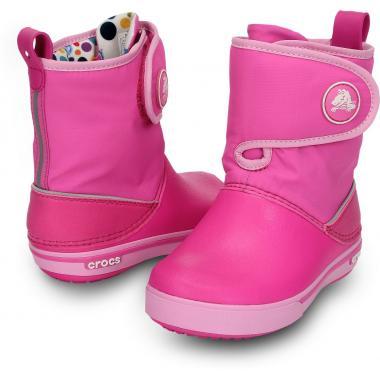 Демисезонные сапоги CROCS Crocband (розовый)