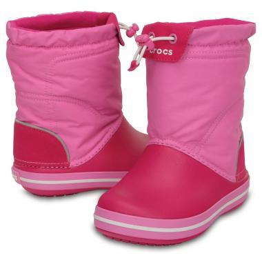 Демисезонные сапоги CROCS (розовый)