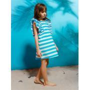 Платье для девочки JUNO (голубой/белый), 3-12 лет