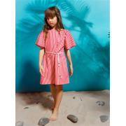 Платье для девочки JUNO (красный/белый), 3-12 лет