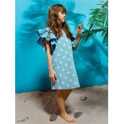 Платье для девочки JUNO (деним), 3-12 лет