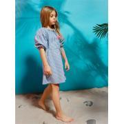 Платье для девочки JUNO (синий/белый), 3-12 лет