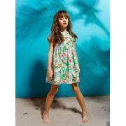 Платье для девочки JUNO (тропики), 3-12 лет