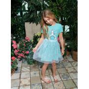 Платье для девочки JUNO (мятный), 3-12 лет