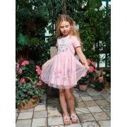 Платье для девочки JUNO (розовый), 3-12 лет