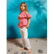 Блузка для девочки JUNO (красный/белый), 3-12 лет