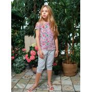 Бриджи для девочки JUNO (серый), 3-12 лет