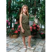 Платье для девочки JUNO (хаки), 3-12 лет