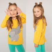 Джемпер для девочки KOGANKIDS (желтый), 1 года - 10 лет