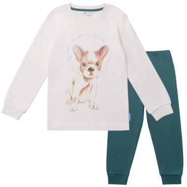 Хлопковая пижама для мальчика KOGANKIDS (ваниль), 2-12 лет