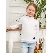 Водолазка КОТМАРКОТ для девочки (белый), 7-12 лет