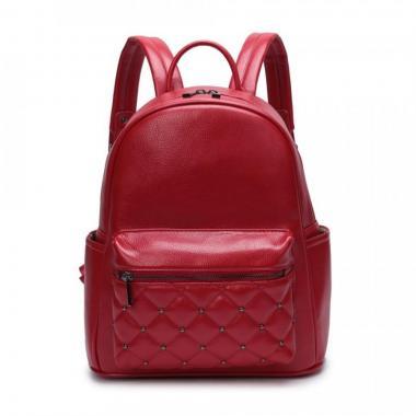 Женский рюкзак из экокожи Ors Oro (красный)