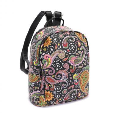 Женский рюкзак из экокожи Ors Oro (пейсли на черном)