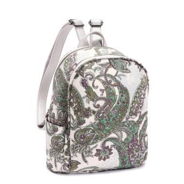 Женский рюкзак из экокожи Ors Oro (пейсли на белом)