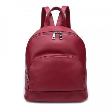 Женский рюкзак из экокожи Ors Oro (т.красный)