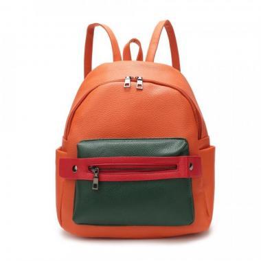 Женский рюкзак из экокожи Ors Oro (апельсин)