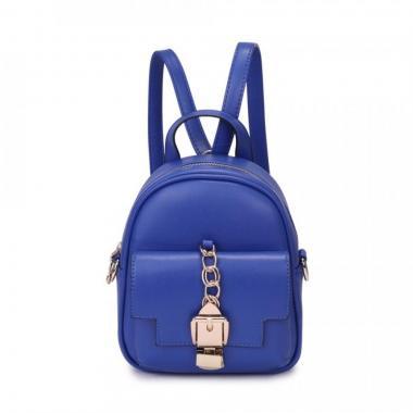 Женский рюкзак из экокожи Ors Oro (синий)