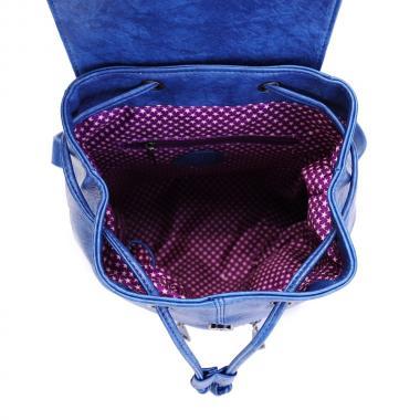 Женский рюкзак из экокожи Ors Oro (т.голубой)