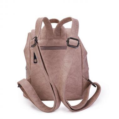 Женский рюкзак из экокожи Ors Oro (палево-розовый)