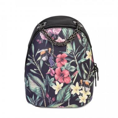 Женский рюкзак из экокожи Ors Oro (цветы)