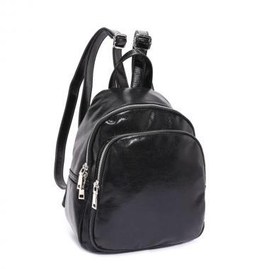 Женский рюкзак из экокожи Ors Oro (черный)