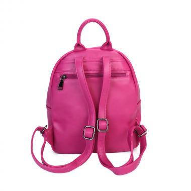 Женский рюкзак из экокожи Ors Oro (яр.розовый)