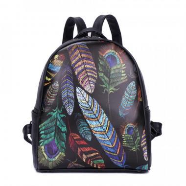 Женский рюкзак из экокожи Ors Oro (перья)