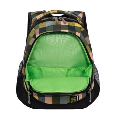 Молодежный рюкзак GRIZZLY  RU-925-2 (квадраты цветные)