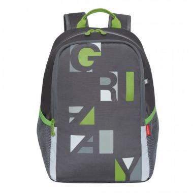 Школьный рюкзак для девочек GRIZZLY (серый)