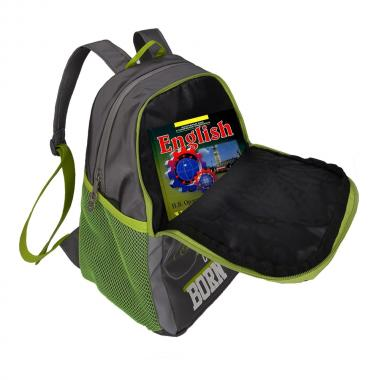 Рюкзак школьный GRIZZLY для мальчика (серый)