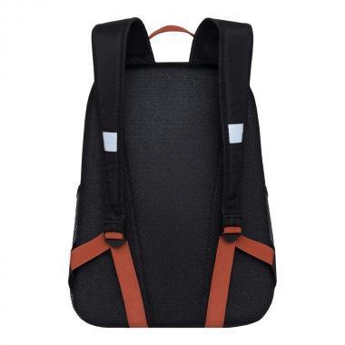 Школьный рюкзак для девочек GRIZZLY (черный/терракотовый)