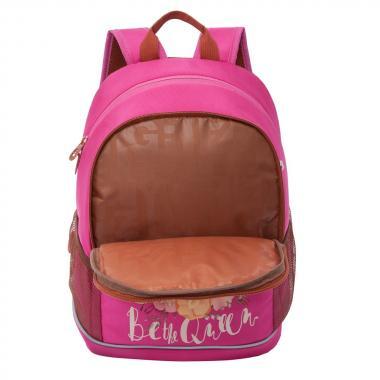 Школьный рюкзак для девочек GRIZZLY (розовый)