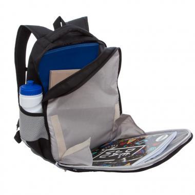 Рюкзак школьный GRIZZLY для девочки (черный)
