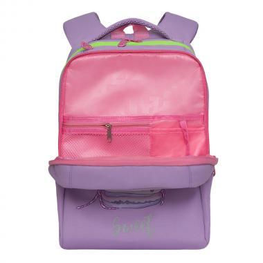 Рюкзак школьный GRIZZLY для девочки (лаванда)
